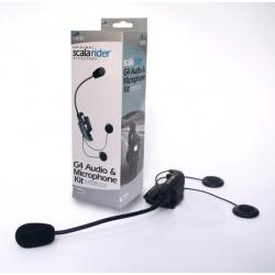 Základna pro SCALA-RIDER G4/MP3 dvě sluchátka, zpevněné vedení mikrofonu (1ks)