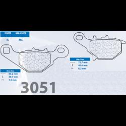 Brzdové destičky 3051 MSC