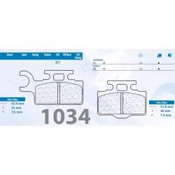 200.1034.XC - Brzdové destičky 1034 MX10 (XC7)