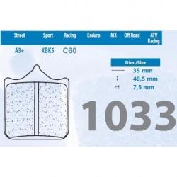 200.1033.A3-4 - Brzdové destičky 1033 A3+ (4ks v sadě)