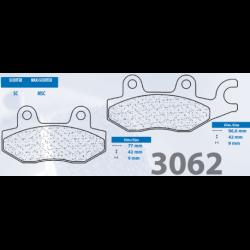 200.3062.MS - Brzdové destičky 3062 MSC