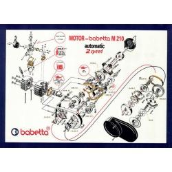 Plakát - motor BABETTA 210