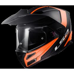 LS2 FF324 Metro EVO Rapid Matt Black Orange