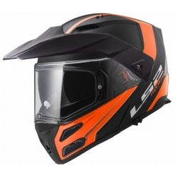 LS2 FF324 METRO EVO RAPID ORANGE MATT BLACK, velikost XL