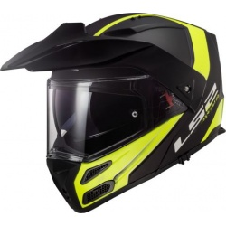 LS2 FF324 METRO EVO RAPID Matt Black Gloss Yellow, FOG FIGHTER (PINLOCK), velikost XXL